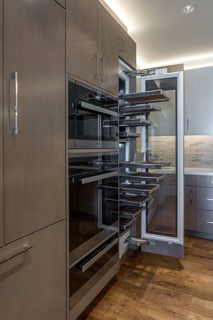 The kitchen in the Waldorf Astoria unit No. 2403 features the latest in appliances. (Luxury Estates International)