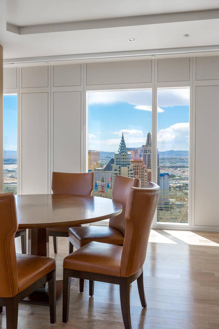 The living room in unit 3604 in Waldorf Astoria. (Luxury Estates International)