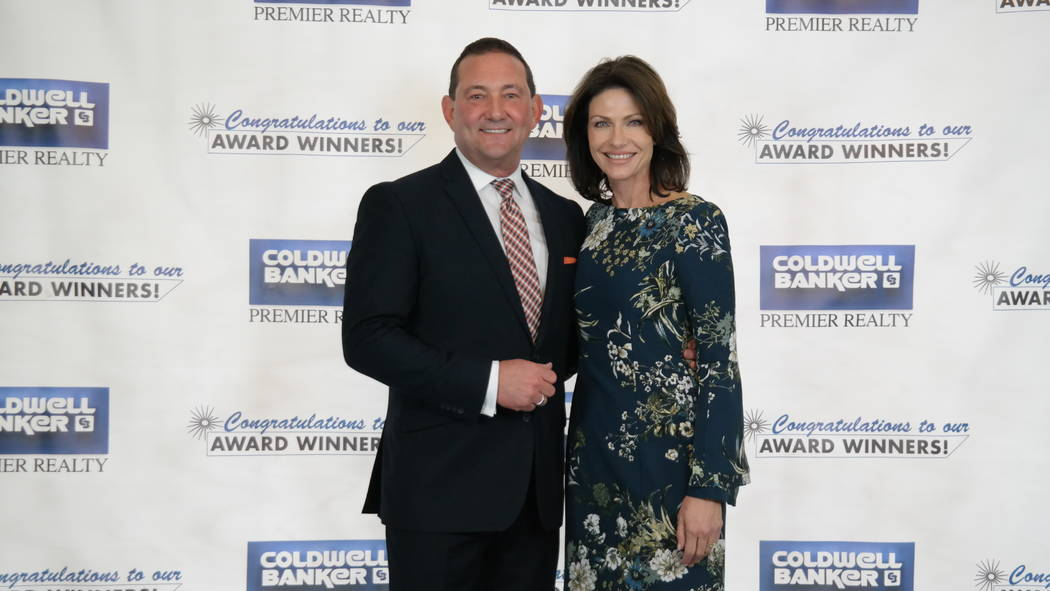 Coldwell Banker Premier Realty's Bob and Molly Hamrick at their annual awards ceremony, which was held Feb. 20 at The Smith Center for Performing Arts. (Elaina Hunley/Coldwell Banker Premier Realty)