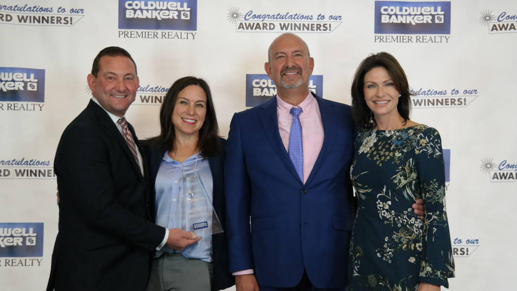 Lance Hamrick won a Sterling Society Award. Here, he is with Vanessa, Bob and Molly Hamrick. (Elaina Hunley/Coldwell Banker Premier Realty)