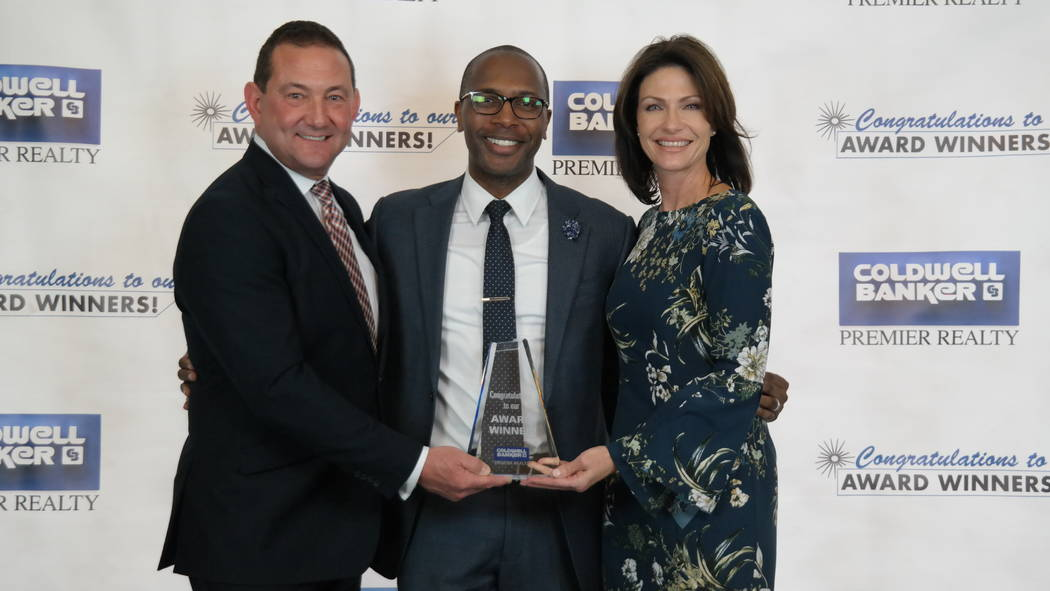Lavert Benefield won the Marilyn Squitieri Award. He also won a Diamond Society Award. Here, he is with Bob and Molly Hamrick. (Elaina Hunley/Coldwell Banker Premier Realty)
