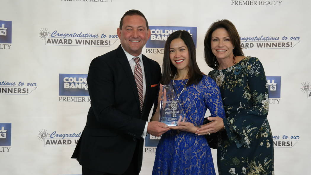 Myra Hatten won the Sterling Society Award. Here, she is with Bob and Molly Hamrick. (Elaina Hunley/Coldwell Banker Premier Realty)