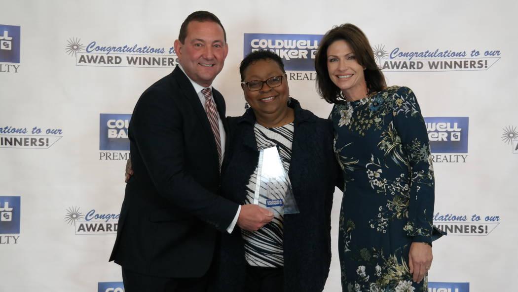 Wanda Mullen won a Diamond Society Award. Here, she is with Bob and Molly Hamrick. (Elaina Hunley/Coldwell Banker Premier Realty)