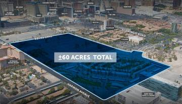 A 60-acre parcel of land near the Las Vegas Strip was sold for $130 million.