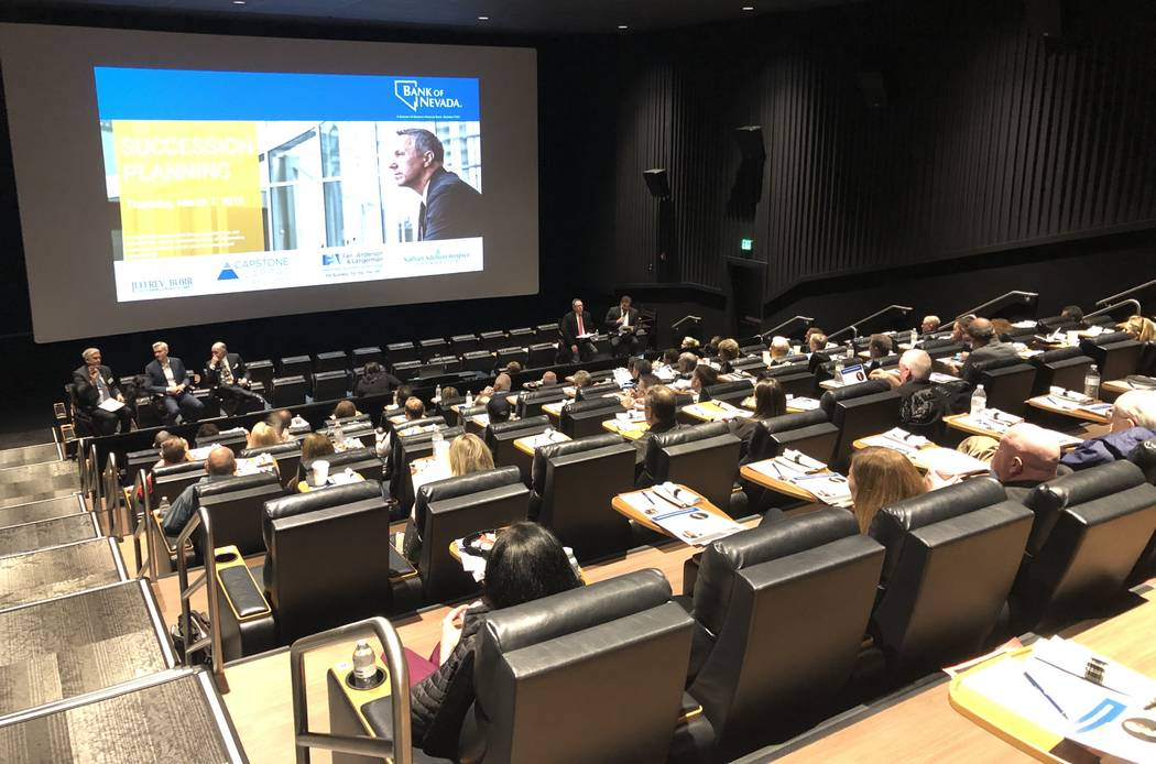 Earlier this month, nearly 90 business leaders attended the Business Succession Planning event sponsored by Bank of Nevada.