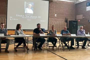 Real estate construction experts gave a May 10 talk to encourage students to enter the field. ( ...