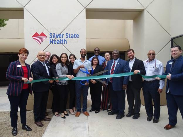 Silver State Health board members, dignitaries from Gov. Steve Sisolak's office, Congresswoma ...
