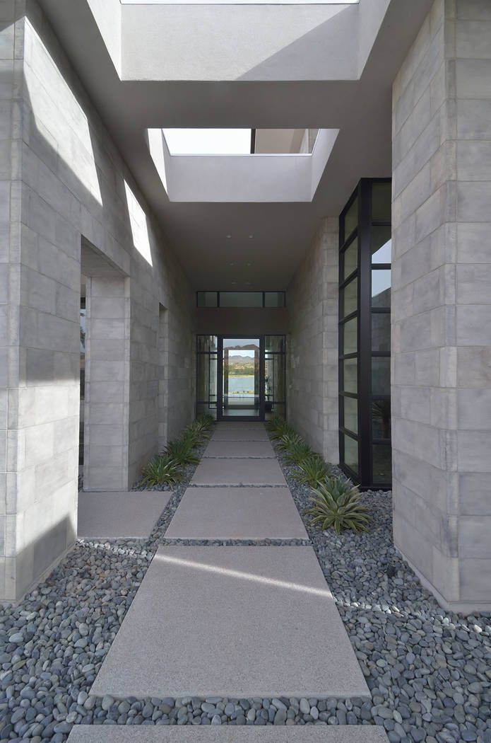 The home's entrance. (Bill Hughes Las Vegas Business Press)