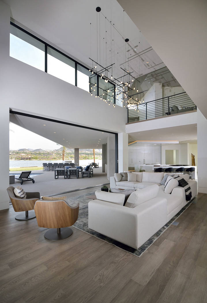 The Lake Las Vegas showcase home at North Shore is listed for $7.5 million. (Bill Hughes Las Ve ...