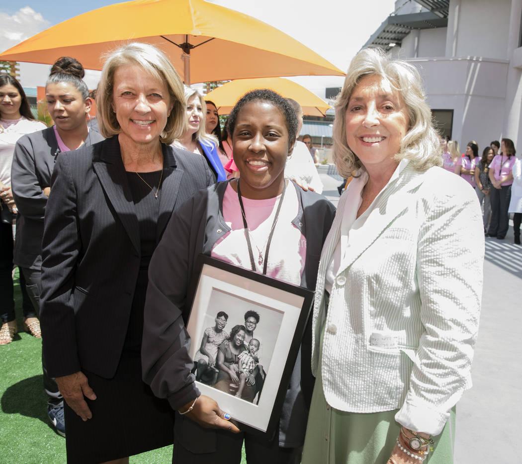 From left, Nevada Secretary of State Barbara Cegavske, Danita Harris (OptumCare) (current cance ...
