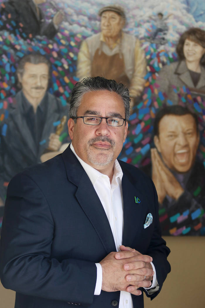 Peter Guzman, president of the Latin Chamber of Commerce. (Ronda Churchill/Las Vegas Business P ...