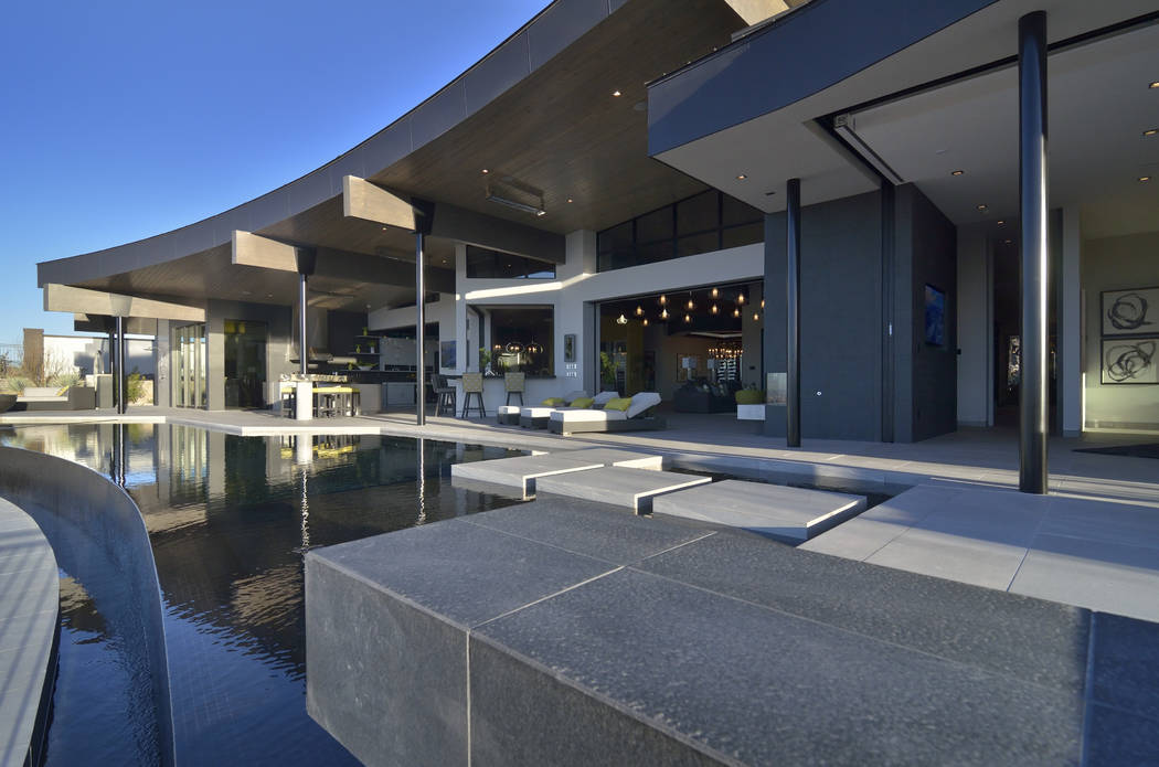 Sun West's New American Home in Ascaya in Henderson was showcased during the International Bu ...