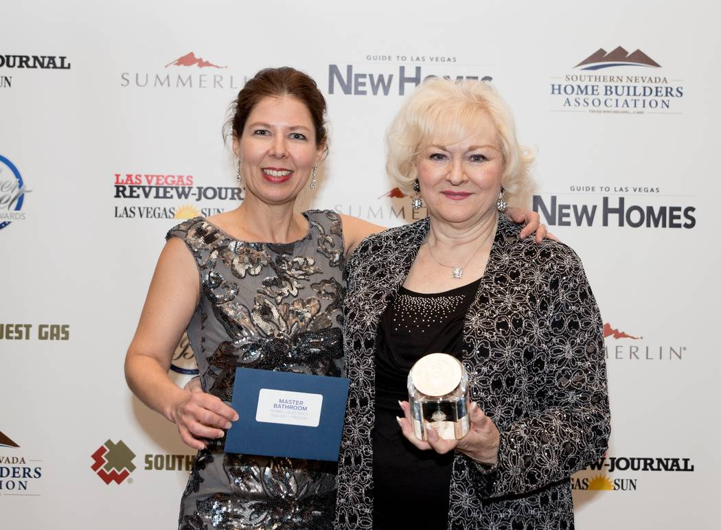 From left, Gyorgyi Koves and Angie Friesl of Toll Brothers accepted five awards this year. (Ton ...