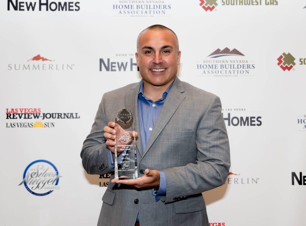 Andy Gil of Lake Las Vegas won for Marketing Professional of the Year for a master planned-comm ...