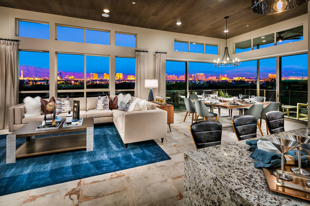 The Apex by Shea Homes Trilogy in Summerlin won a Silver Nugget Award for Best Attached Home of ...