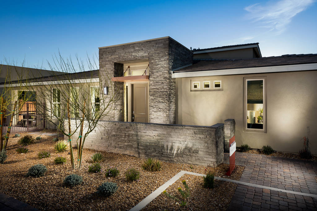 The Haven by Shea Homes Trilogy in Summerlin won a Silver Nugget Award for Best Attached Home o ...