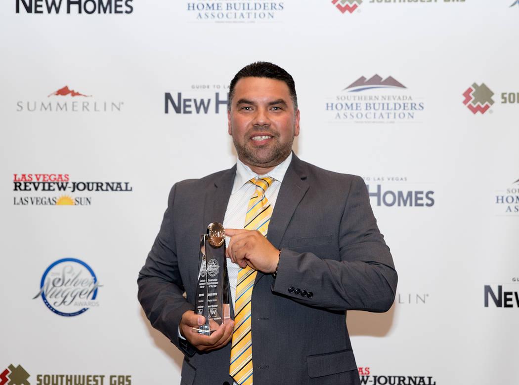 Omar Ortiz named Construction Superintendent of the Year. (Tonya Harvey/Las Vegas Business Press)