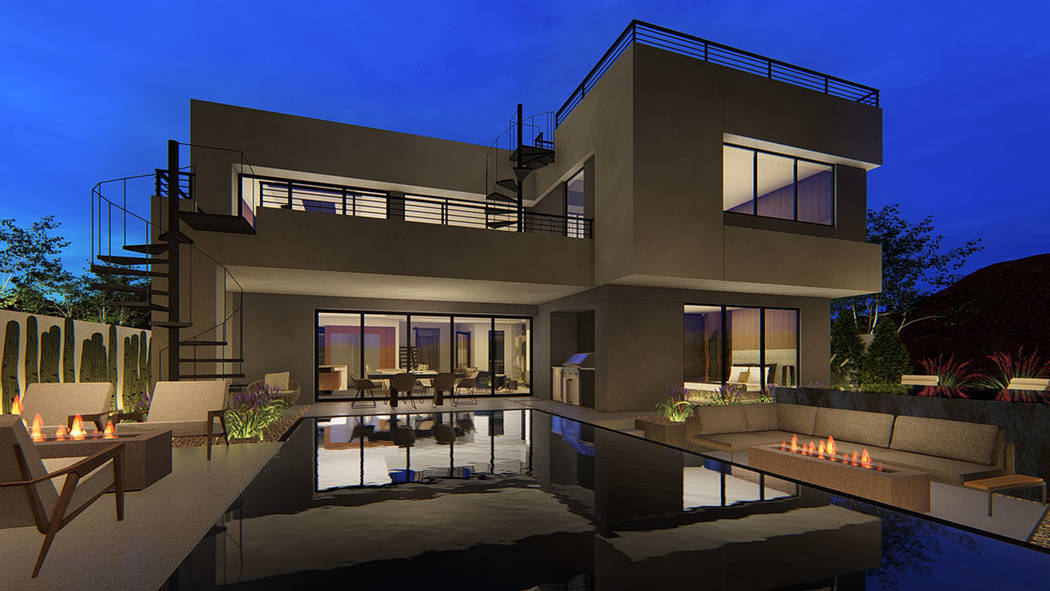 Vantage, on the North Shore of Lake Las Vegas, broke ground earlier this year offering 37 home ...