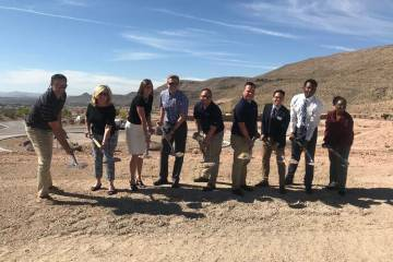Toll Brothers broke ground on the amenity center within its Mesa Ridge gated community in Summe ...