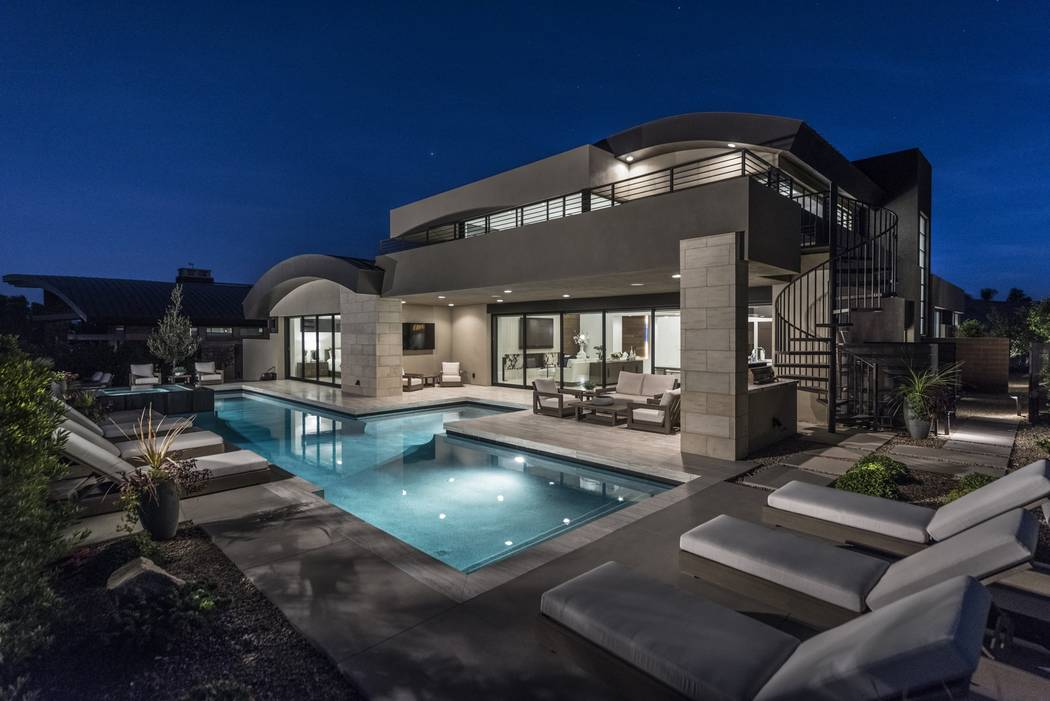 Luxury Homes of Las Vegas No 6 — 44 Sun Glow Way in The Ridges in Summerlin sold for $4.1 mil ...