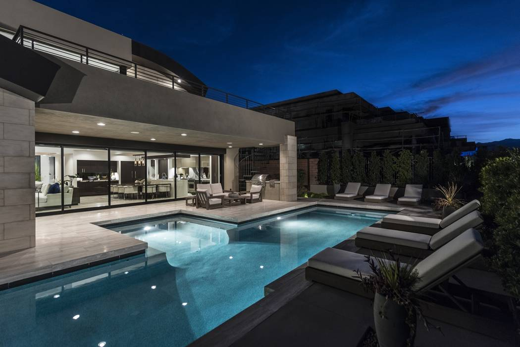 No 6 — 44 Sun Glow Way in The Ridges in Summerlin sold for $4.1 million. (Luxury Homes of Las ...