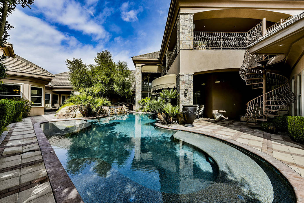 No. 2 — 8101 Obannon Drive, north of Sahara Avenue sold for $6 million. (Paragon Premier Prop ...