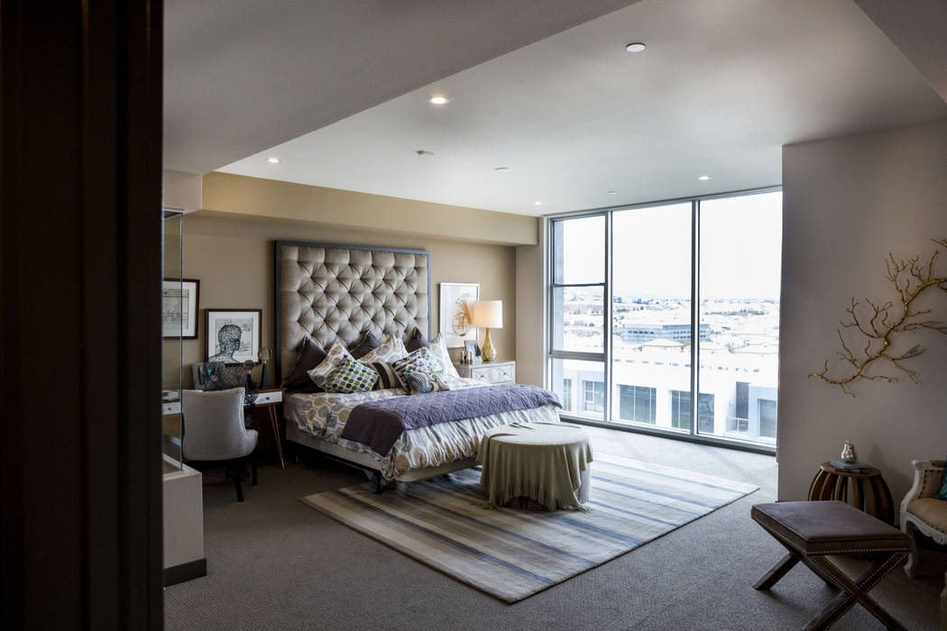 Vantage Lofts luxury model on South Gibson Road and Paseo Verde Parkway in Henderson is showcas ...