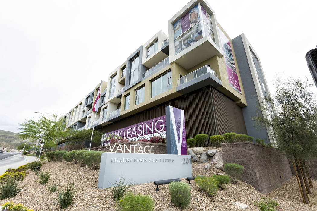 Vantage Lofts in Henderson is one of several luxury apartments that have opened across the Las ...