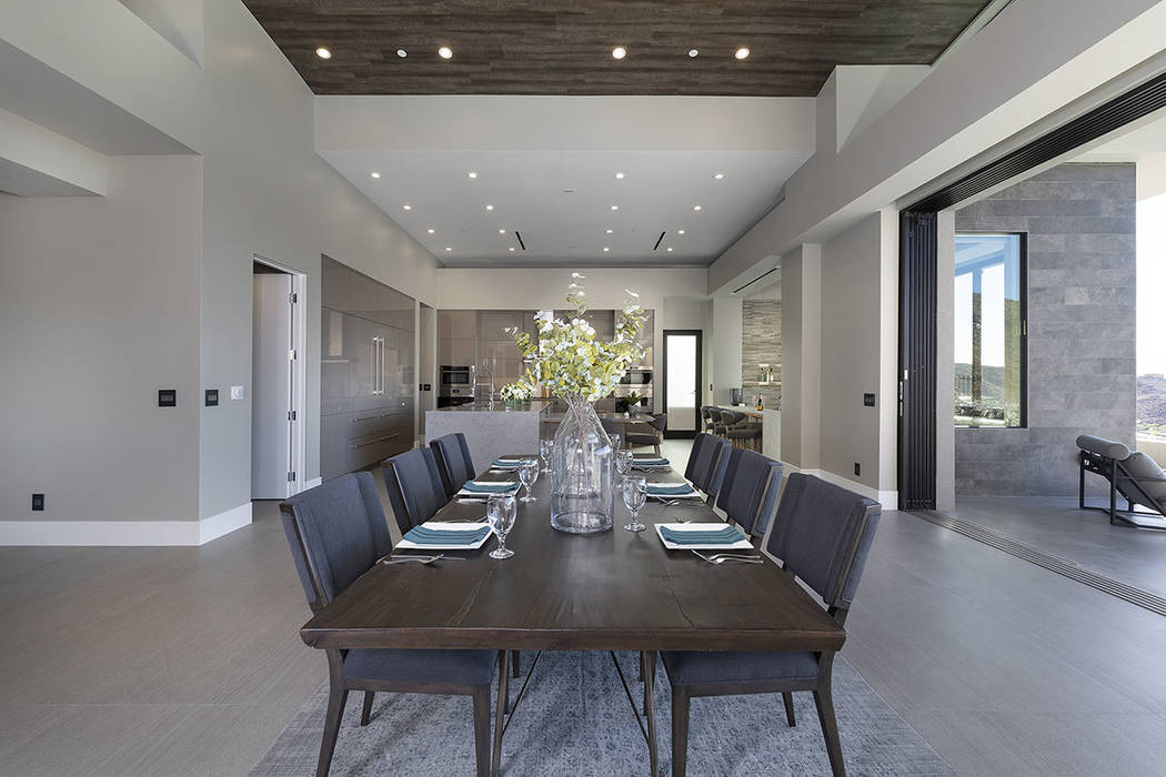 The dining area. (Synergy|Sotheby's International Realty)