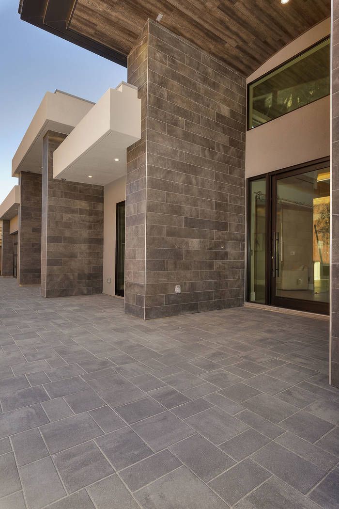 The home's entrance. (Synergy|Sotheby's International Realty)