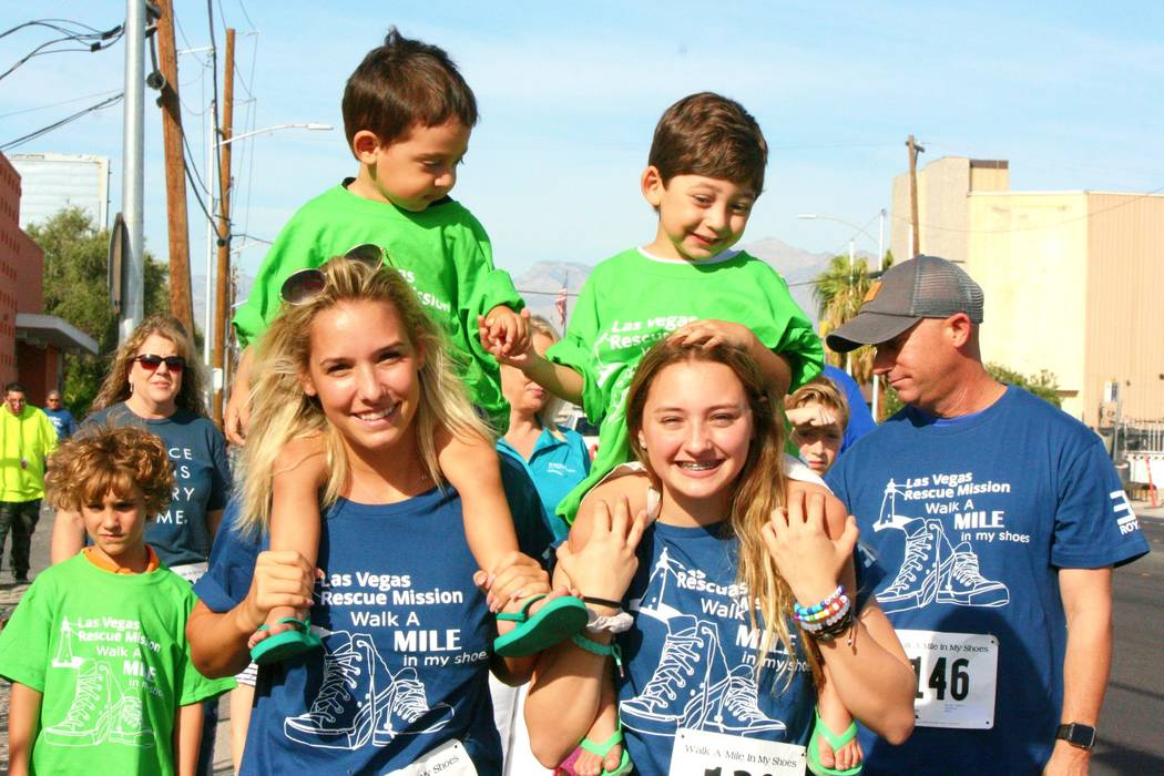 The Las Vegas Rescue Mission will host its eighth annual fundraiser, called Walk a Mile in My S ...
