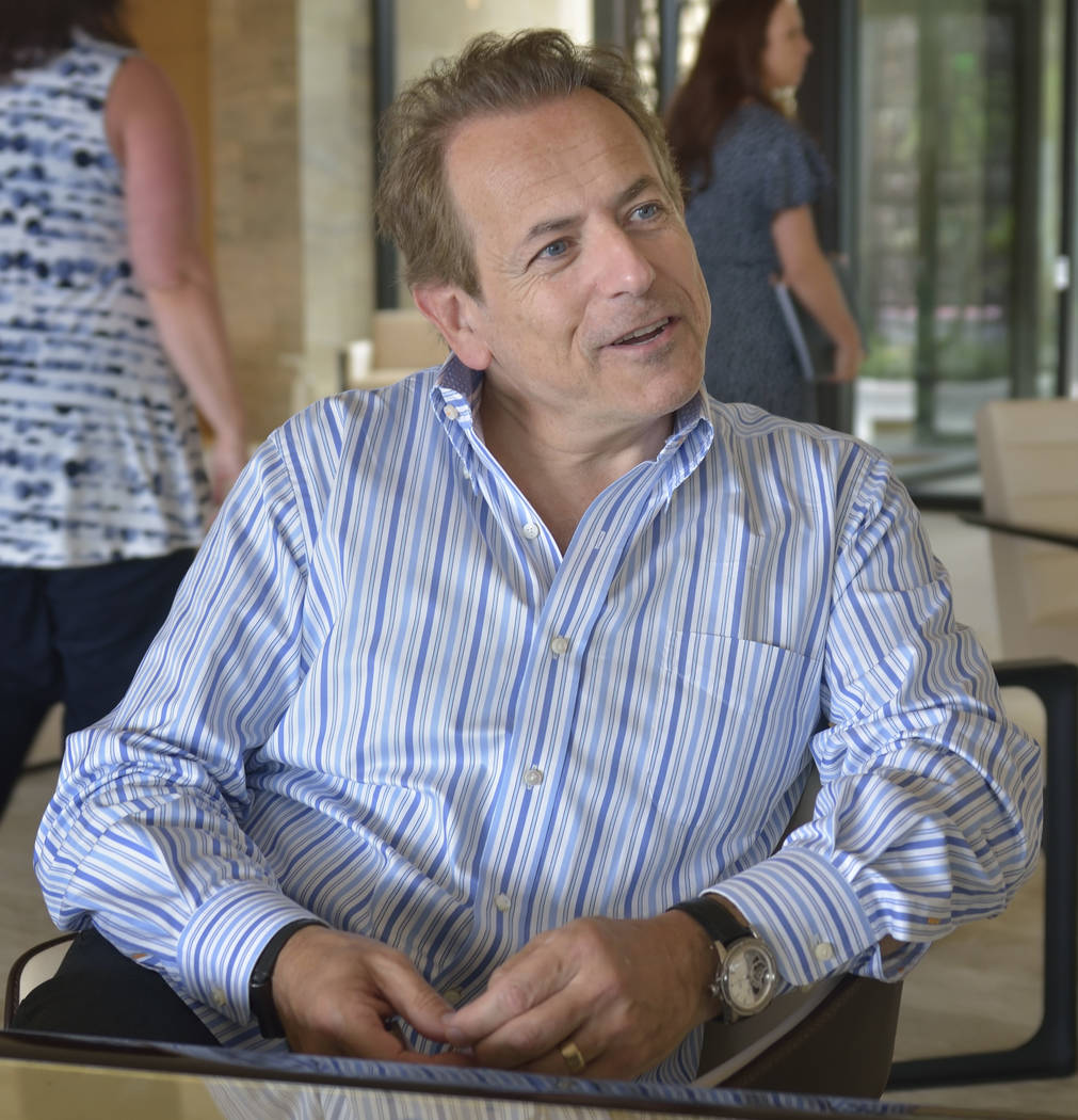 David Arnold, managing director of the Robb Report. (Bill Hughes/Las Vegas Business Press)