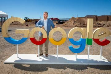 Andrew Silvestri, Google head of data center public policy and community development, at the co ...