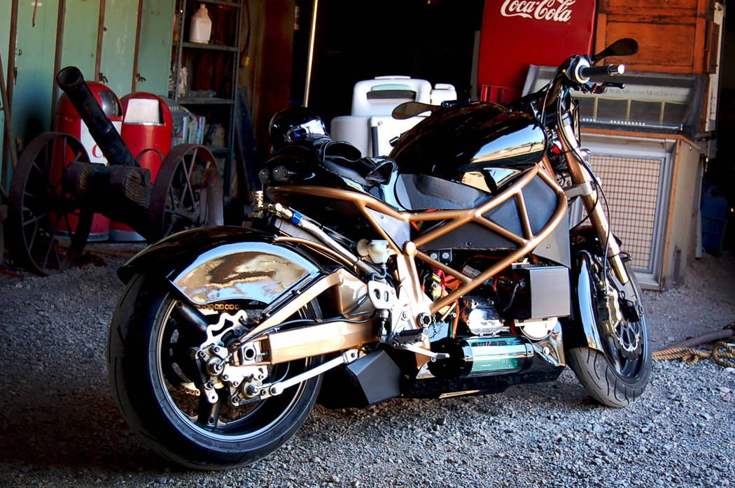 Brutus Electric Motorcycles is a Boulder City-based company that will be showcasing its creatio ...