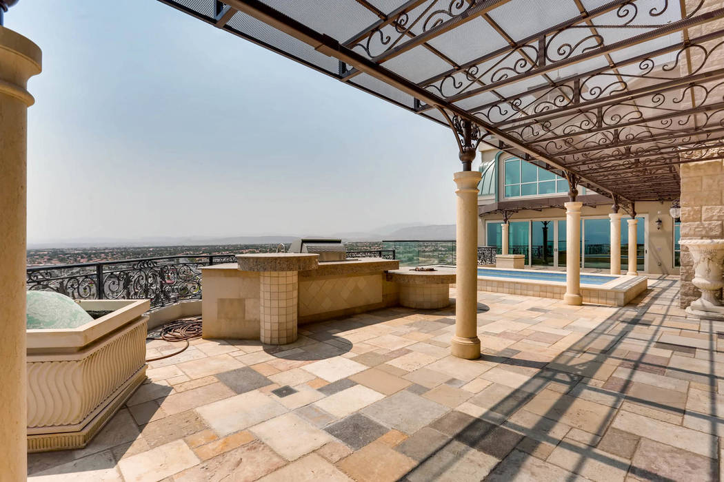 The balcony overlooks the Las Vegas Valley. (Char Luxury Real Estate)