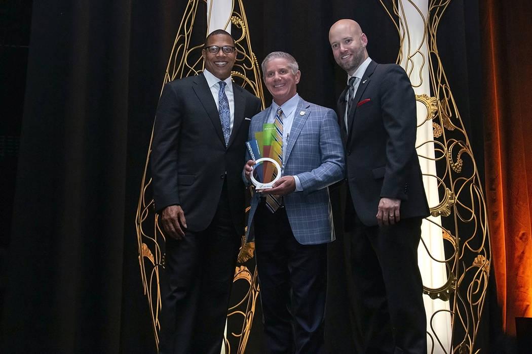 The Golden Knights won the Innovation Award. (LVGEA)