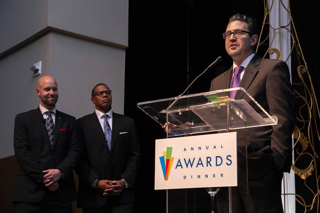 Applied Analysis Principal Jeremy Aguero received Las Vegas Global Economic Alliance's Leadersh ...