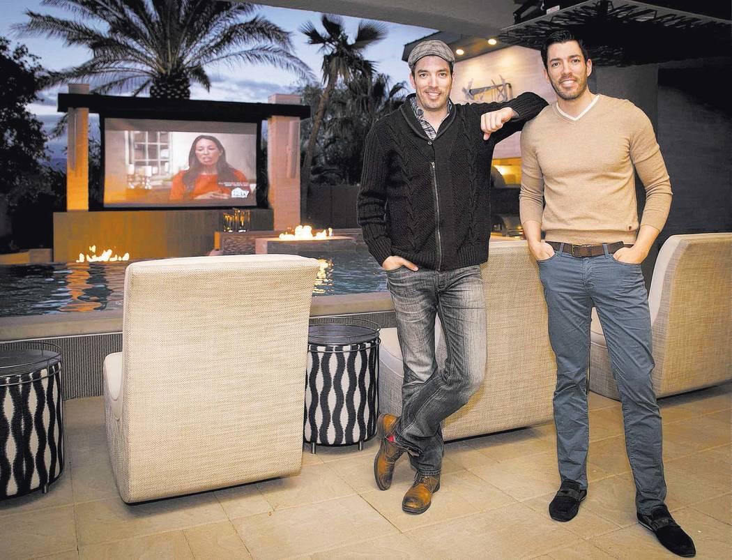 Jonathan and Drew Scott in their Las Vegas home. (Tonya Harvey/Las Vegas Business Press)