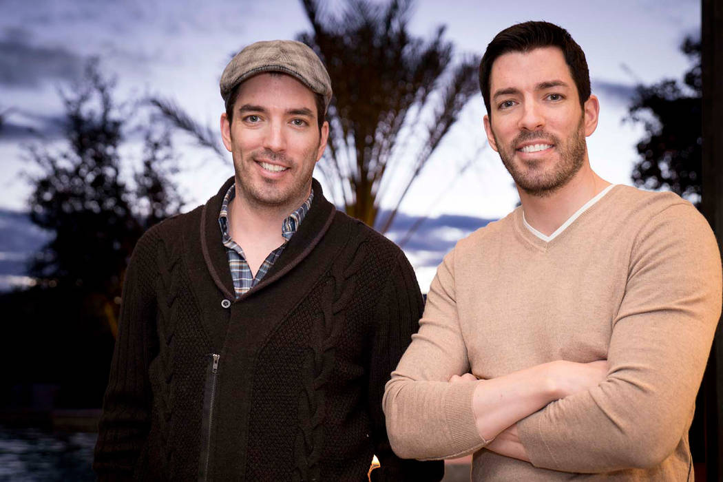 "Jonathan and Drew Scott, who star on the HGTV's ""Property Brothers,"" relax in their Las Vegas h ..."