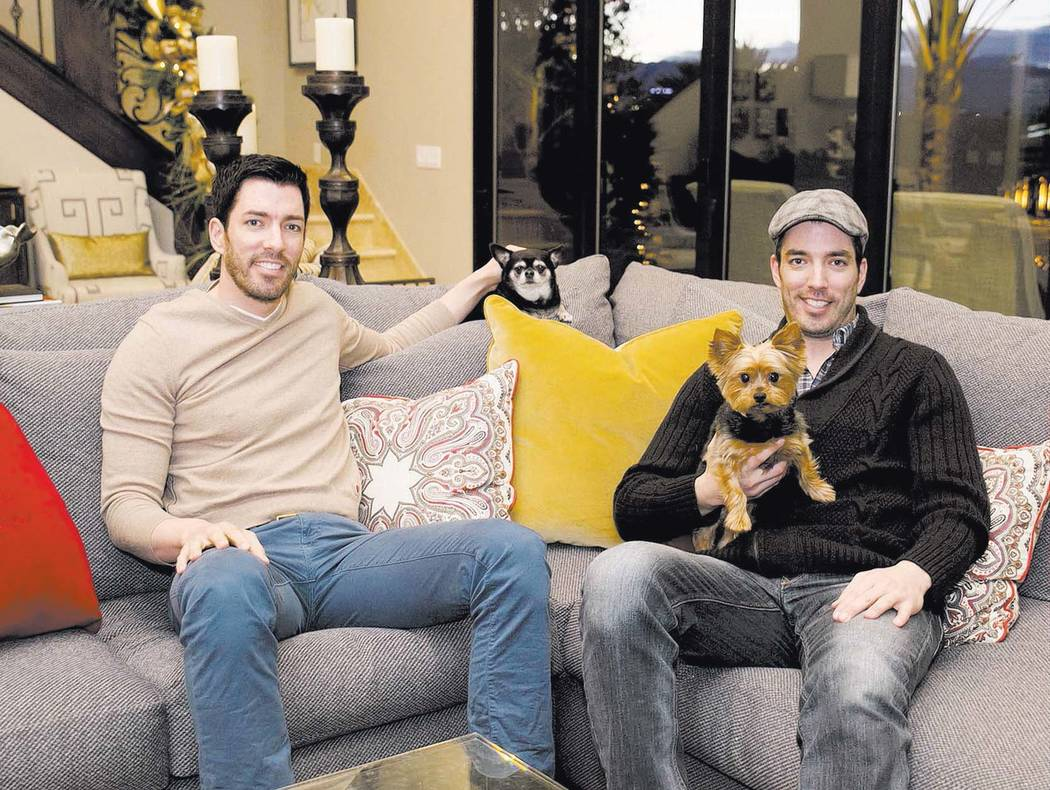 """Jonathan and Drew Scott, who star on the HGTV's """"Property Brothers,"""" in their Las Vegas home du ..."""