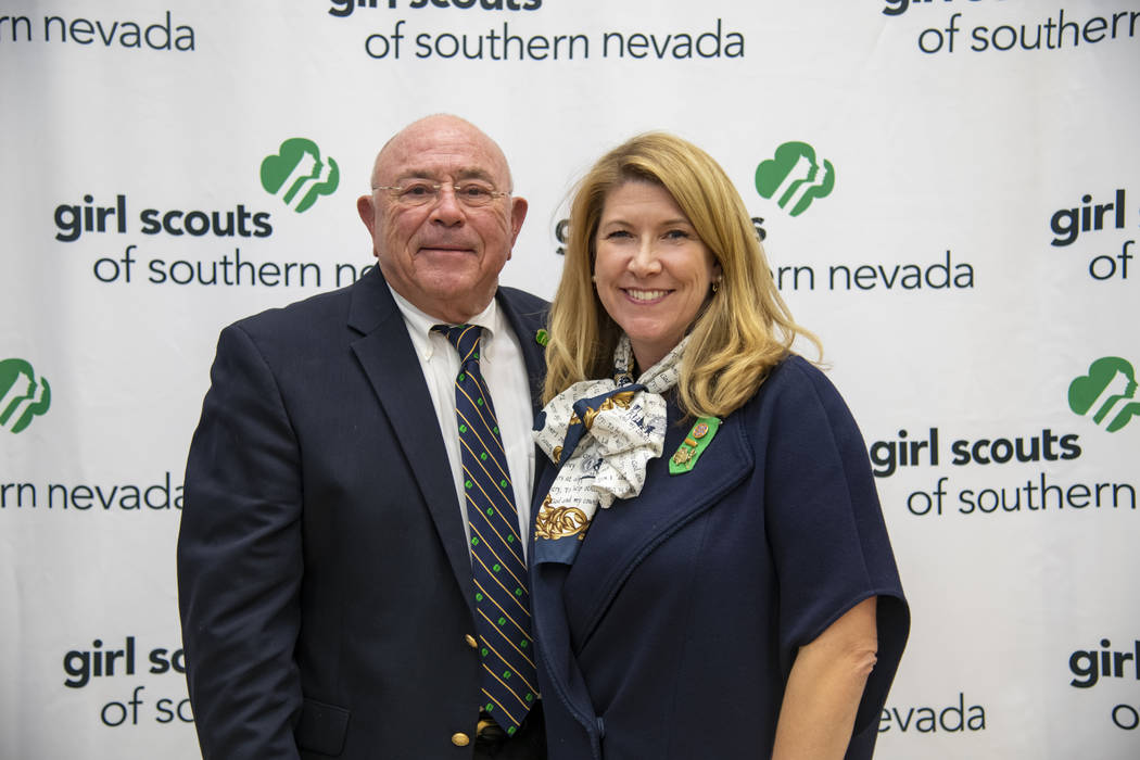 Richard J. Rizzo is board president of Girl Scouts of Southern Nevada. He is here with Kimberly ...