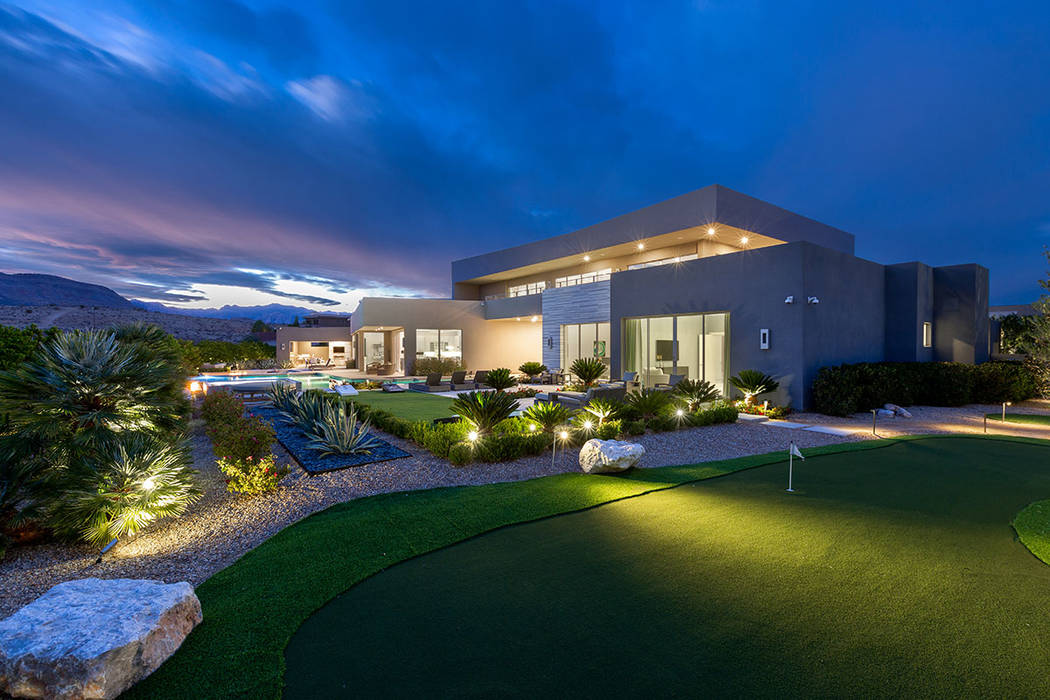 Golden Knights owner Bill Foley's custom Summerlin residence features a putting green. (Ivan Sh ...