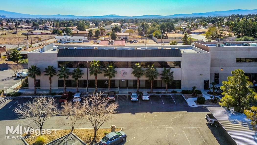 This 15,200-square-foot office building at 6431 W. Sahara Ave. sold for $2,300,000.