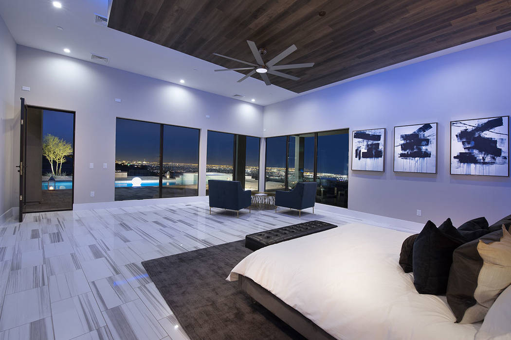 The master suite opens to an outdoor deck. (Synergy Sotheby's International Realty)