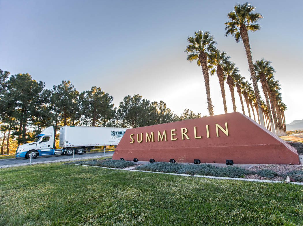 Summerlin will celebrate 30 years in 2020. (Benjamin Hager Las Vegas Review Journal)