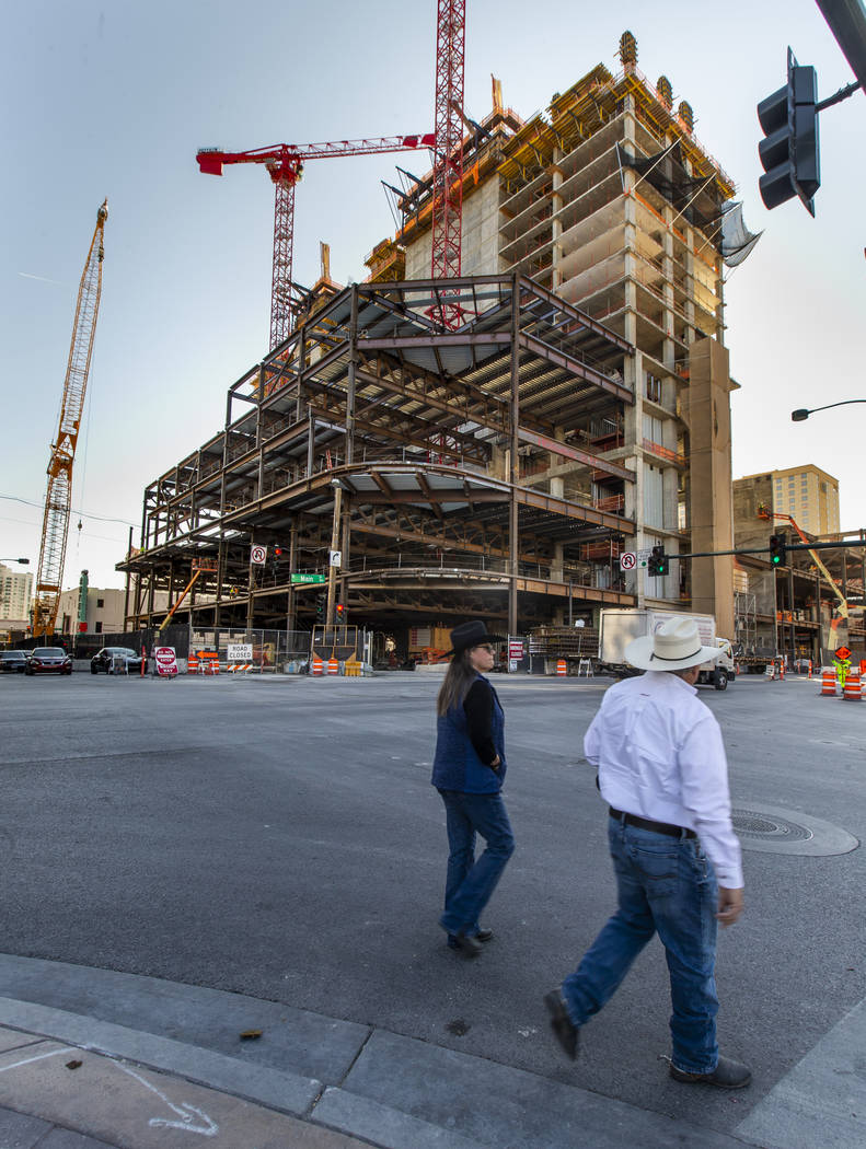 Circa Las Vegas in downtown is on track to open by the end of 2020. (L.E. Baskow/Las Vegas Rev ...