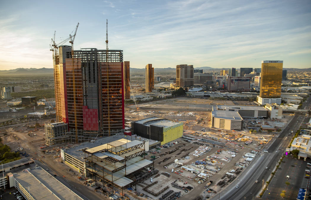 Resorts World is under construction and expected to open in 2021. (L.E. Baskow/Las Vegas Review ...