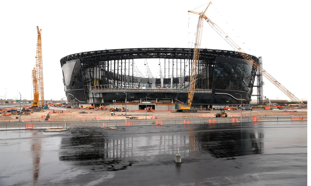 The Raiders Allegiant Stadium will open in August. (Erik Verduzco / Las Vegas Review-Journal) @ ...