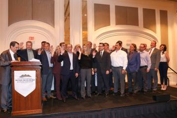 The Southern Nevada Home Builders Association 2020 board was sworn in during a December ceremon ...