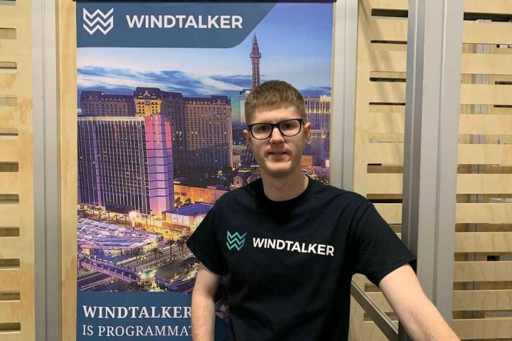 Corbin Bridge founded WindTalker Inc. six months ago. (WindTalker)